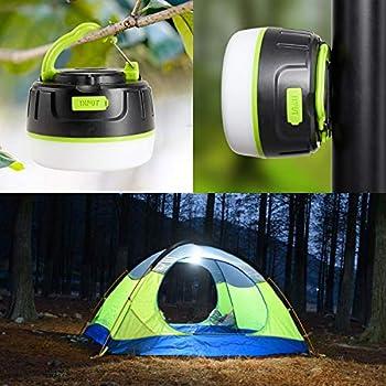 SP-Cow 2 en 1 Lanterne Camping Rechargeable, Mini Lanterne LED Portable, Batterie Rechargeable de 5200mAh, IP65 Eclairage Camping Etanche, Lampe urgenc pour Camping, Bivouac, Pêche, Randonnée, Tente