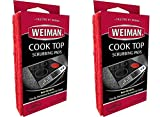 Weiman Cook Top Scrubbing Pads – Gently Clean and Remove Burned-on Food from All Smooth Top and Glass Cooktop Ranges, 3 Reusable Pads Pack of 2