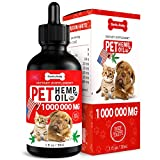Hеmp Oil Dogs Cats - Anxiety, Pain, Stress, Arthritis, Seizures Relief - Better Sleep - Grown & Made in USA - Omega 3, 6, 9 & Vitamin E (30 ml)