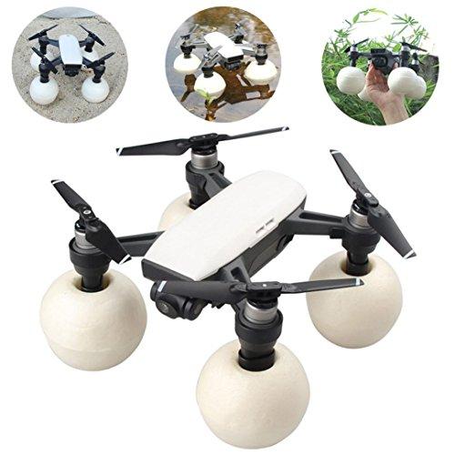 gaddrt Landing Gear Soporte Pantalla Heighten & flotabilidad bola impermeable para DJI Spark, transparente
