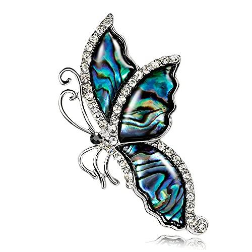 YANGCONG Broche de Mariposa - Broches de Damas - Broche Pin Backs - Austria Crystal - Suéter Vestido de Vestido Camisa Joyería de Moda Broche for niña Madre Hija Amigo 210918 (Color : A)