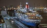 ZGNH Rompecabezas 1000 Piezas Crucero Nocturno por el Muelle Madera Puzzle, niño Juguete Educativo Intelectual de Adulto descompresión,Regalo Ideal La Mejor DIY Decoración hogareña