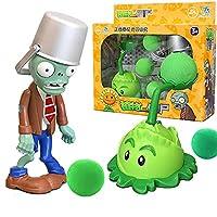 大純正植物対ゾンビおもちゃ2人の完全な男子の柔らかいシリコーンアニメフィギュア子供の人形の子供の誕生日おもちゃの贈り物