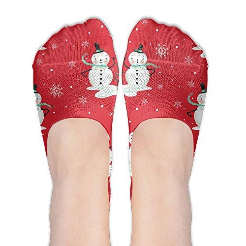 Yoigng No Show Socks Snowflake Womens Classic Low Cut Ankle Tube Liner Non Slip Flat Boat Stockings