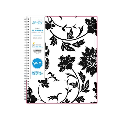 "Blue Sky 2019-2020 Academic Year Weekly & Monthly Planner, Flexible Cover, Twin-Wire Binding, 8.5"" x 11"", Barcelona"