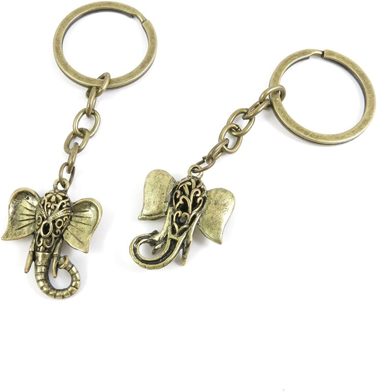 100 Pieces Fashion Jewelry Keyring Keychain Door Car Key Tag Ring Chain Supplier Supply Wholesale Bulk Lots F2RN3 Hollow Elephant