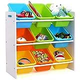 Homfa Estantería Infantil para Juguetes Libros Organizador Infantil de Juguetes...