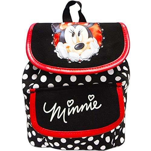 Small Backpack - Disney - Minnie Mouse - Dots with Mickey Album Stickers