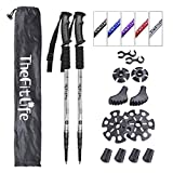 TheFitLife Nordic Walking Trekking Poles - 2 Pack with Antishock and Quick Lock System, Telescopic, Collapsible, Ultralight for Hiking, Camping, Mountaining, Backpacking, Walking, Trekking (Silver)