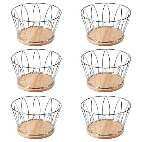 不二貿易『ワイヤー木製フルーツバスケット』