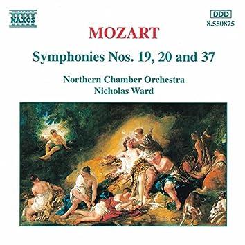 Mozart: Symphonies Nos. 19, 20 and 37