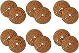 12 PCS 11.8inch Coconj Coir Fibra Planta Protector MUTCOR MAT- Mantelimento de la palma de seda de co co a prueba de co co para la cubierta de la planta de disco, colapas de anillo de plantas de árbol
