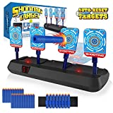 Growsland Electronic Shooting Nerf Target for Kids - Auto Reset Digital Scoring Target Practice Toys for Nerf Guns Toys with 20 Pcs Darts & 1 Hand Wrist Bands (No Gun)