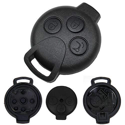 KONIKON Schlüsselgehäuse Funk Fernbedienung Ersatz Gehäuse passend für Smart 451 ForTwo ForFour Roadstar Autoschlüssel Schlüssel Neu