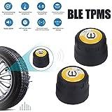 Haihuic Sistema di monitoraggio della Pressione dei Pneumatici Bluetooth Wireless TPMS per Moto Universale,2 sensori Esterni,rilevamento Applicazione per telefoni cellulari Android iOS