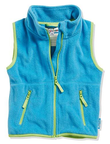 Playshoes Fleece-Weste Farbig abgesetzt Chaleco, Azul (Aquablau 23), 98 para Niñas