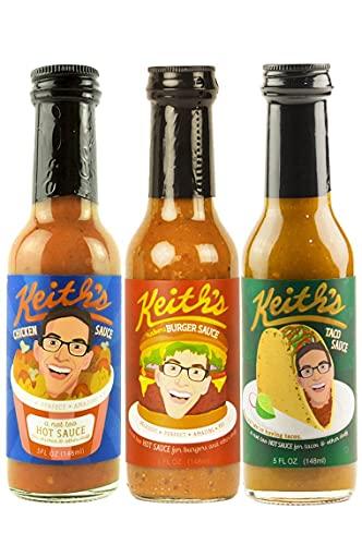Keith's Hot Sauce Trio