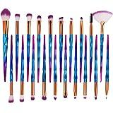 20 Stück Makeup Pinsel Set Einhorn Pinselset Kosmetik Set Für Eyeliner Lidschatten Augenbraue Bürste Wimpernbürste(Helles Blau)