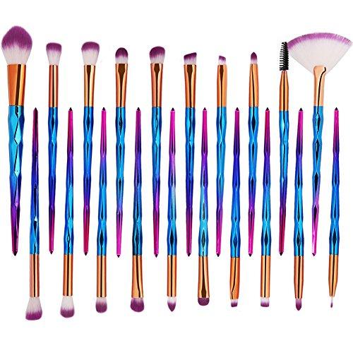 20 Stück Makeup Pinsel Set Einhorn Pinselset Kosmetik Set Für Eyeliner Lidschatten Augenbraue...