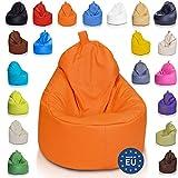 Ecopuf Yoko Sitzsack - Outdoor und Indoor Beanbag aus Kunstleder mit Anti-Verlust Reißverschluss