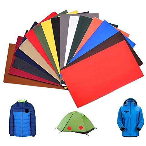 12pcs Self-Adhesive Down Jacket Patch Sticker,Down Jacket First Aid Repair Patch Kit (A)