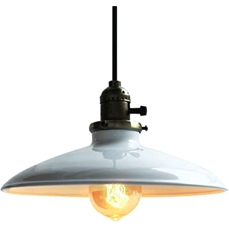 Lightess Suspension Éclairage Luminaire En Métal E27 Rétro Vintage Classique Industriel Plafonnier Plafond Lampe Abat-jour [Classe énergétique A+]