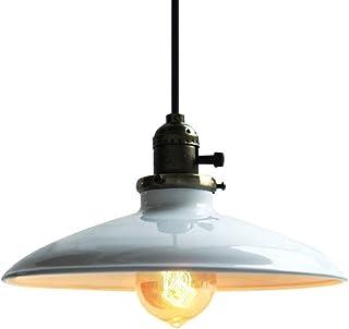 Unimall Pantalla Lámpara Colgante Lámpara Vintage Luz Industrial Lámpara Colgante(Bombilla no incluye)
