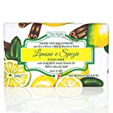 Iteritalia Sapone Vegetale Extrafine con Olio d'Oliva e Olio di Mandorla Dolce Fragranza Limone e Spezie - 250 g