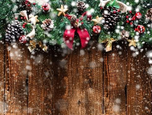 Navidad Nieve Madera decoración de Fiesta Fondo fotográfico bebé recién Nacido Navidad Navidad Estudio Familiar Accesorios fotográficos A9 9x6ft / 2.7x1.8m