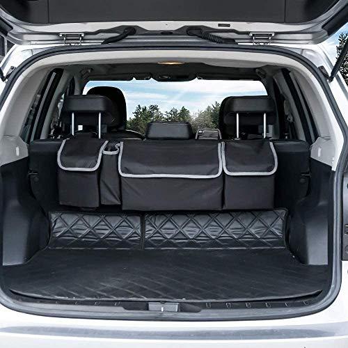 MGDAM custodia per sedile posteriore per auto, organizer per bagagliaio per auto scatola per auto in rete custodia per seggiolino auto multi-tasca per SUV