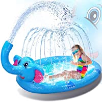 Ganapoco 3 in 1 Splash Pad Inflatable Sprinkler Water Toys Outdoor Swimming Pool for Babies and Toddlers