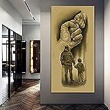 XIANGY Vater und Sohn Faust Bilder Leinwand Malerei Vintage