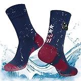Layeba 100% Waterproof Breathable Socks [SGS Certified] Unisex Outdoor Sports Hiking Trekking Skiing Socks 1 Pair & 2 Pairs (Grey, Small)