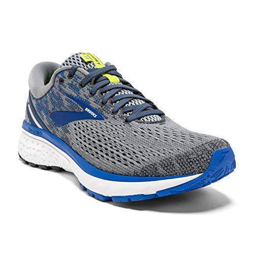 Brooks Mens Ghost 11 Running Shoe - Grey/Blue/Silver - D - 11.0