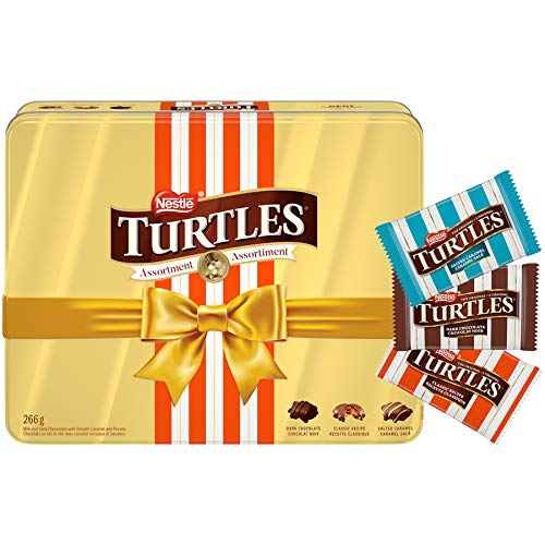 TURTLES NESTLÉ Assorted Holiday Gift Chocolates Tin, 266g