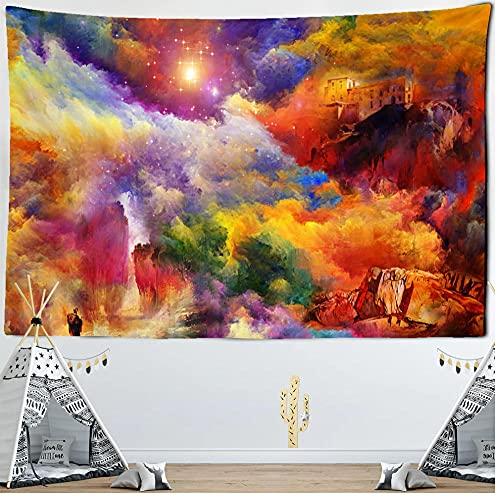 bailingniao Mirage - Tapiz para colgar en la pared, diseño de nubes de arena y playa, manta bohemia, cojín para camping, tienda de campaña, colchón de viaje, decoración del hogar, 200 x 150 cm