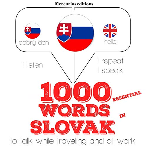 1000 essential words in Slovak audiobook cover art