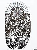 Tatuaje tribal para brazo de hombre, negro HB853estilo Maorí