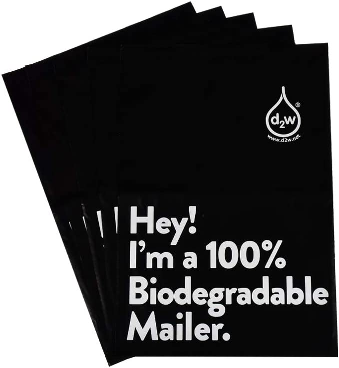 12x15.5 Import Inches 100% Biodegradable D2W Black Poly 50pcs Mailers discount