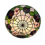LINSLBFD Tiy Lámpara de Techo de Estilo Rural, Accesorio de Cocina, 11,81 Pulgadas, Hecho a Mano, con vitrales, Pantalla, lámpara de Techo de Montaje Empotrado, para Comedor, Sala