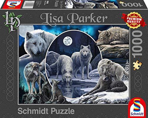 Schmidt Spiele 59666 Lisa Parker, Prächtige Wölfe, 1000 Teile Puzzle, bunt