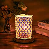 Tensun Wax Melt Warmer for Scented Wax - Candle Melter, Electric 3D Crystal Fragrance Wax Diffuser Oil Burner with 3 Brightness Dimmable for SPA Home Office Bedroom Living Room Kitchen