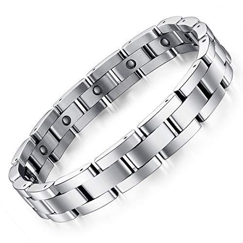Pulsera magnética de acero inoxidable para hombre, eslabones, joyas, brazalete para hombre