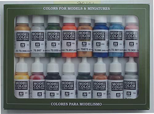 VALLEJO-3070101 70101 Model Set DE 16 Colores, Surtido (3070101)