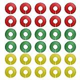 Yolispa 30 Piezas Círculos Divisores de Armario Perchero de Ropa Separadores de Tamaño Colgador Separador Divide La Caña de Ropa por Tamaño