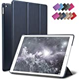 ROARTZ iPad Mini 4 case, Metallic Navy Blue Slim Fit Smart Rubber Coated Folio Case Hard Cover Light-Weight Auto Wake/Sleep for Apple iPad Mini 4th Generation Model A1538/A1550 Retina Display