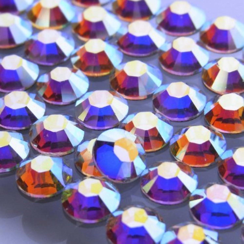 交換可能ずらす発明する2000クリスタルオーロラss3(100粒入り)スワロフスキーラインストーン(nohotfix)
