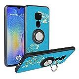 Funda para Huawei Mate 20, Fashion Design [Antigolpes] con 360 Anillo iman Soporte, Resistente a los arañazos TPU Funda Protectora para Huawei Mate 20,Flower