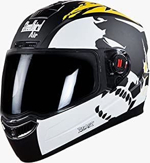 Steelbird Helmet SBA-1 Beast Stylish full face Bike helmet Glossy Black/Yellow with Plain Visor- Large 600MM