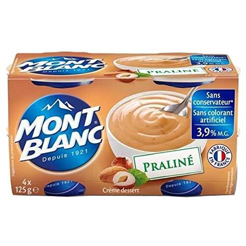 Mont Blanc Crème Dessert Praliné (lot de 4)